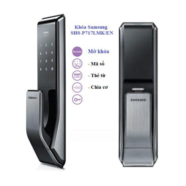 Khóa thẻ từ, mã số Samsung SHS-P717LMK/EN