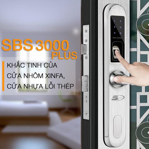 Khóa vân tay SBS3000 Plus - Khóa cao cấp
