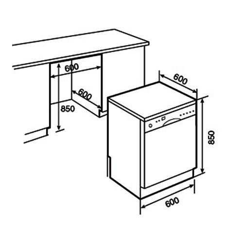 Máy rửa bát Bosch SMS50E28EU - Thiết kế nhà bếp