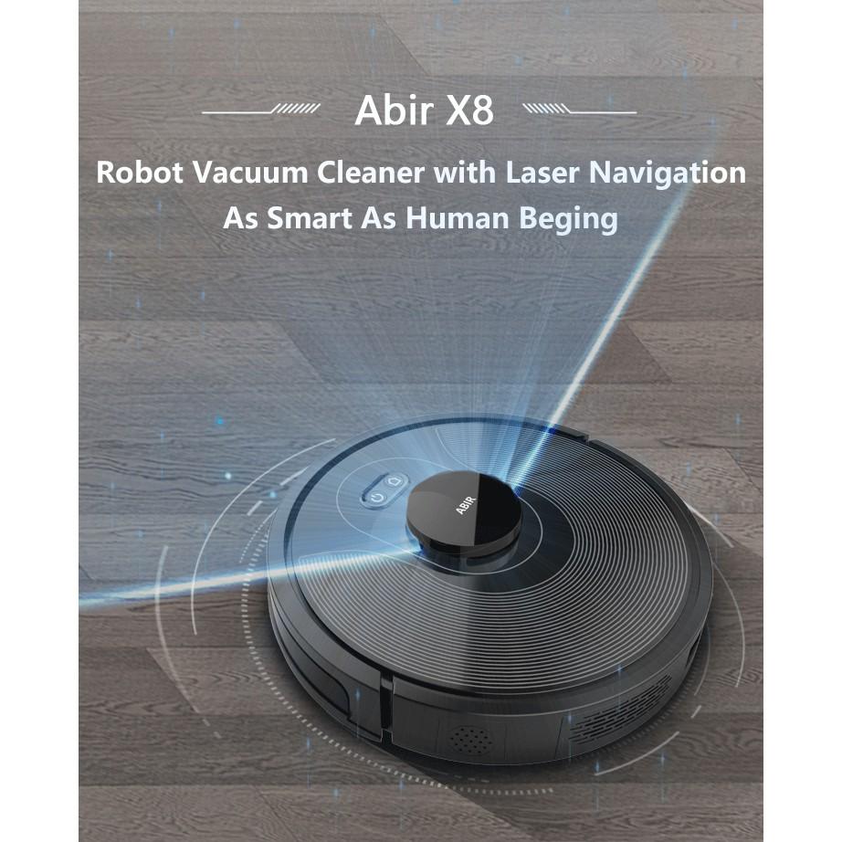 Robot hút bụi lau nhà Abir X8 - Robot hiện đại