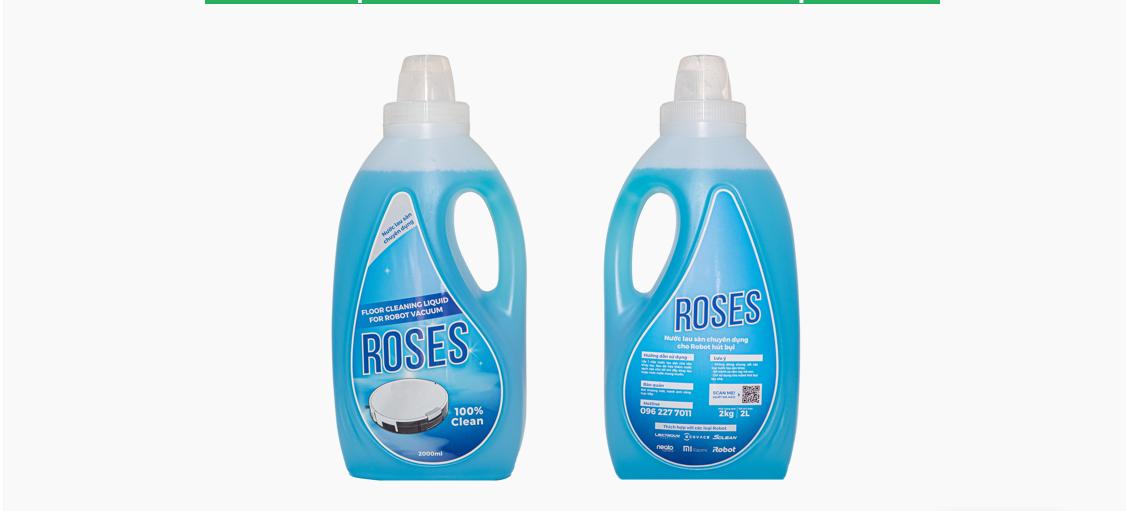 Nước lau sàn chuyên dụng cho robot lau nhà ROSES